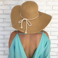 High Tide Shimmer Floppy Hat