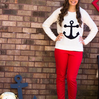 Anchor Aweigh Sweater