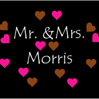 Mr. & Mrs. decal, window sticker, vinyl decal, custom decal, wedding gift, Just married, newlyweds, save the date, wedding sign, vinyl decal