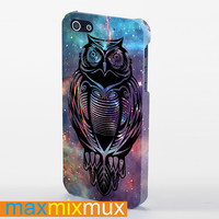 Owl Tattos Galaxy iPhone 4/4S, 5/5S, 5C Series Full Wrap Case