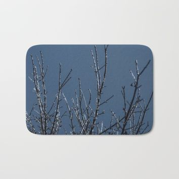 Icy Silhouettes Bath Mat by Scott Hervieux