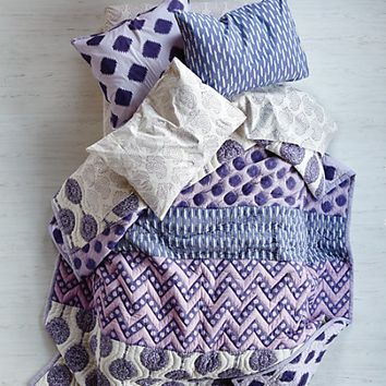 Kids' Bedding: Girls' Purple Patterned Cotton Bedding | The Land of Nod