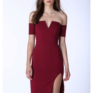 Mindy Off Shoulder Midi Dress