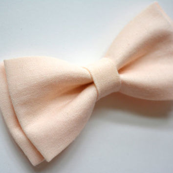 Light peach bow tie, soft peach bow tie, clip on bow tie for kids