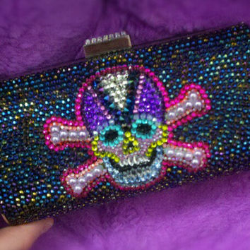 Handmade, One of a Kind SKULL & CROSSBONES Clutch