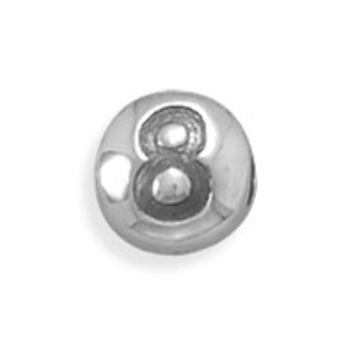 "Oxidized Number ""8"" Bead"