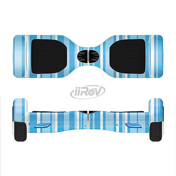 The Vintage Blue Striped Pattern V4 Full-Body Skin Set for the Smart Drifting SuperCharged iiRov HoverBoard