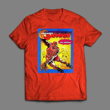 MICHAEL JORDAN CARTOON NIKE AD T-SHIRT