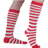 Red & White Striped Socks- Party City