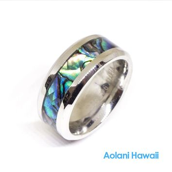Ablone Stainless Steel Ring (8mm width, Flat style)