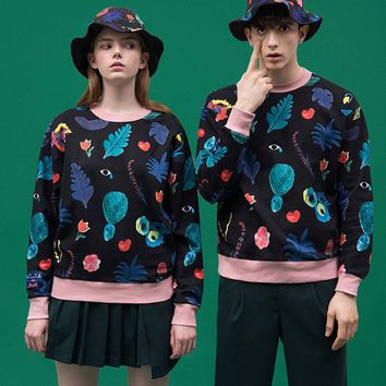 Digital Flora Pullover Sweatshirt