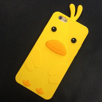 Cute little duck soft gel phone case for iPhone 7 7 plus iphone 5 5s SE 6 6s 6 plus 6s plus + Nice gift box 1609300302GK
