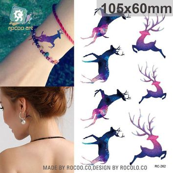 Tattoo Sticker waterproof temporary tattoos run deer