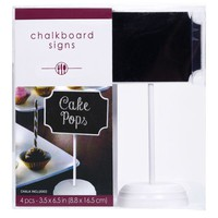 Chalkboard Place Card Holders 4ct