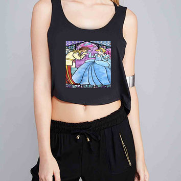 Princess Cinderella for Crop Tank Girls S, M, L, XL, XXL *07*