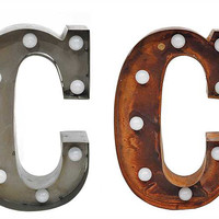 """C"" Metal LED Marquee Light"