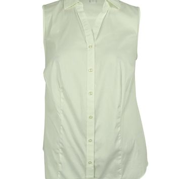 Charter Club Women's Sleeveless Button Down Shirt