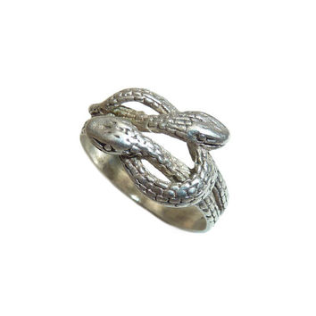Vintage Sterling Silver Double Snake Ring