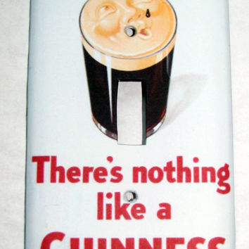 Light Switch Cover - Light Switch Plate Guiness Beer Vintage Ad