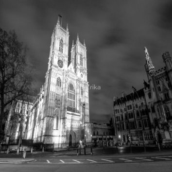 Cathedral by Night - black and white by IAmErika