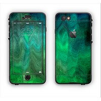 The Vivid Green Sagging Painted Surface Apple iPhone 6 Plus LifeProof Nuud Case Skin Set