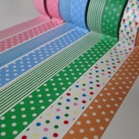 Japanese Washi Tape: 8-Roll Starter Pack - 30ft/roll
