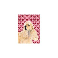 Caroline's Treasures Cocker Spaniel Hearts Love and Valentine's Day House Flag