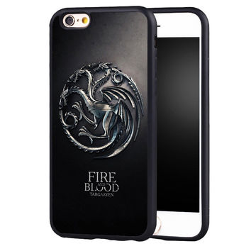 Reboto House Targaryen Game Of Throne  case Cover For iPhone 5 5C SE 6 6S 7 Plus