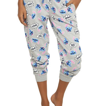 Disney Lilo & Stitch Tossed Stitch Girls Jogger Pants