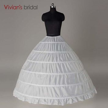Crinoline 6 Hoop Petticoat For Ball Gown Dress Wedding Accessories Wedding Dresses Underskirt