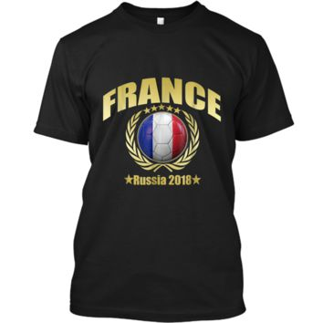 France Champions 2018 Soccer Team Premium Cup Gold T-Shirt Custom Ultra Cotton