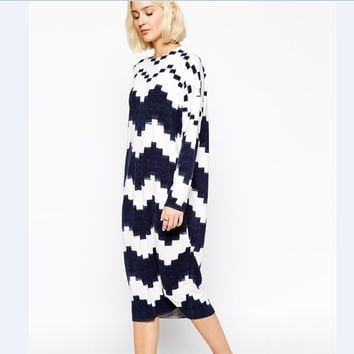 Thicken Geometric Pullover Sweater [6351444996]