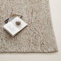 Mini Pebble Wool Jute Rug