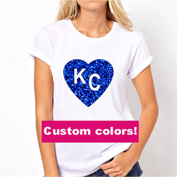 KC Tshirt Iron On Transfer, Kansas City Royals, Kansas City Chiefs, KC Royals Tshirt, KC Chiefs Tshirt, I Love Kansas City Tshirt Iron On