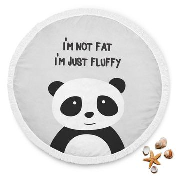 I'm Not Fat I'm Just Fluffy Panda Beach Blanket