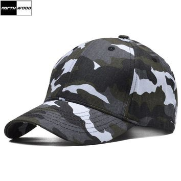 Trendy Winter Jacket [NORTHWOOD] Unisex Snow Camouflage Baseball Cap Men Bone Snapback Caps Army Hat High Quality Brand Camouflage Cap Casquette AT_92_12