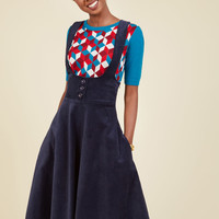 Math Club Moxie Jumper in Navy | Mod Retro Vintage Skirts | ModCloth.com