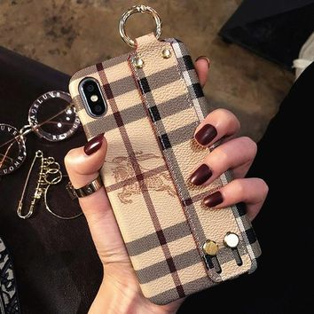 Burberry Tide brand wristband iphone xs Max mobile phone case cover