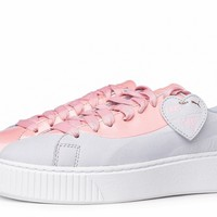 NEW Puma Basket Platform Valentine Women's Trainers | US 6.5