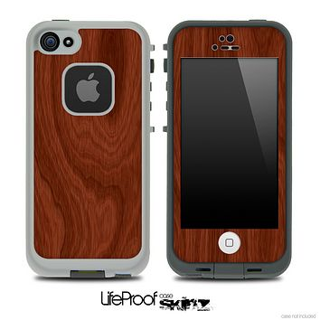 Elegant Wood Grain Skin for the iPhone 5 or 4/4s LifeProof Case