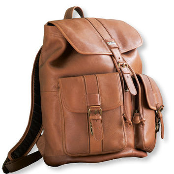 Maine Guide Rucksack, Leather: Maine Guide Collection | Free Shipping at L.L.Bean