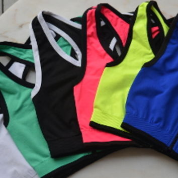 Zipper Front Crop Top Tank in Assorted Colors