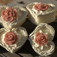 Heartsy Soap Wedding Favor Heart Soap with Roses by WeddingFavors