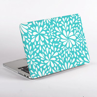 Hard Plastic Flower Confetti Macbook Case Design in Mint for MacBook Pro Retina Display and MacBook Air Case