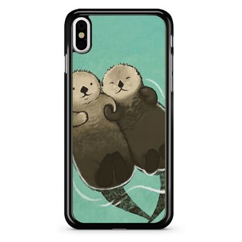 Significant Otters Otters Holding Hands iPhone X Case