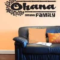 """Ohana Means Family"" - Wall Décor Sticker Vinyl Decal from Disney's ""Lilo and Stitch"" PLUS FREE BONUS!"