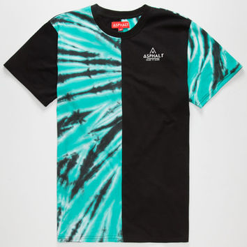 Ayc Split Tie Dye Mens T-Shirt Black Combo  In Sizes