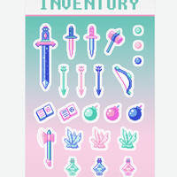 Magical Girl Inventory sticker sheet