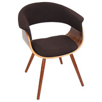 Vintage Mod Accent Chair, Walnut/Espresso
