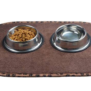 IMPAW Brown Pet Feeding Placemat